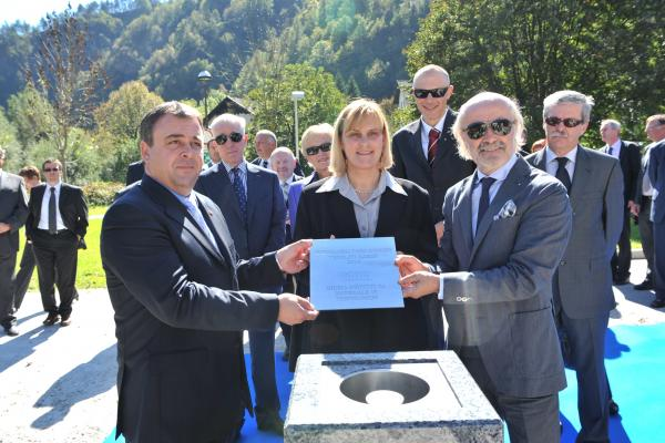 Foundation laid in Spodnja Idrija at the beginning of the construction of Hidria Institute for Materials and Technologies