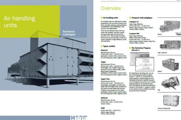 Updated technical documentation for Hidria air handling units