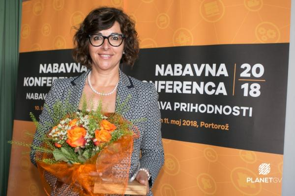 Irena Rimac Gaspari became the procurement manager of the year